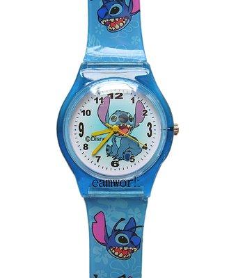 【卡漫迷】 史迪奇 膠錶 張牙坐姿 ㊣版 卡通錶 Stitch 星際寶貝 兒童錶 迪士尼 手錶 台灣製 造型錶