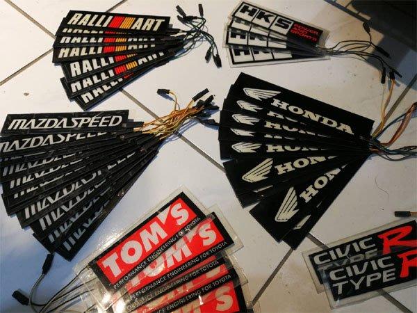 【藍牛冷光】特價出清 車外全防水 冷光銘板 防水冷光片 HKS RALLIART TYPE R TOMS HONDA