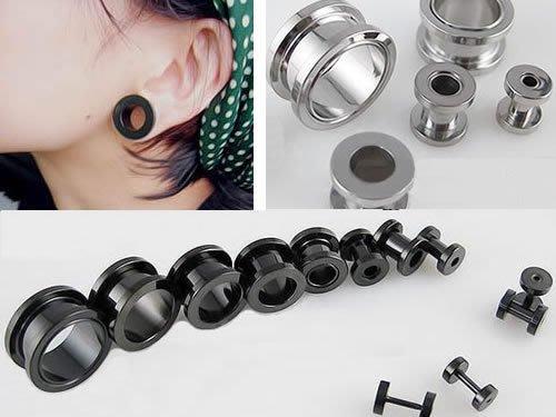 ☆追星☆ 952兩色可選(1.4公分/1.6公分)耳擴器 耳環(1個)西德鋼 擴耳器 擴洞耳環 耳針 體環 穿刺藝術