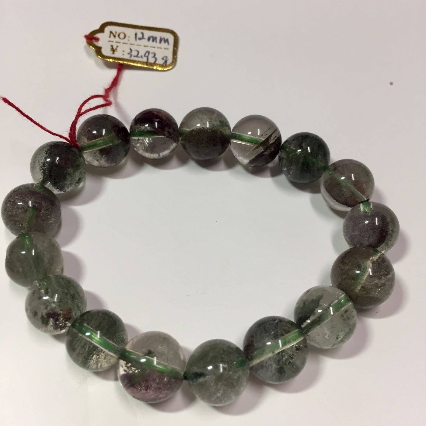 綠幽靈 手珠 天然水晶 水晶手鏈 聚寶盆 招財 能量 出清價