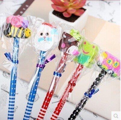 韓國文具創意橡皮擦鉛筆卡通小動物鉛筆小學生禮品批發幼兒園獎勵