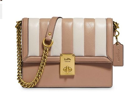 COACH Hutton Mini Colorblock Quilted Leather Shoulder Bag