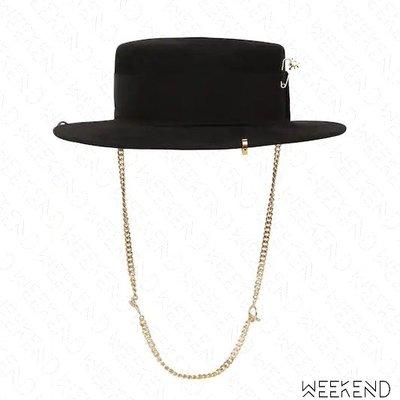 【WEEKEND】 RUSLAN BAGINSKIY RB Piercing 穿孔 羊毛 帽子 紳士帽 黑色