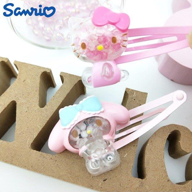 《軒恩株式會社》KITTY 美樂蒂 日本三麗鷗發售 兒童髮夾 髮夾 髮飾 瀏海夾