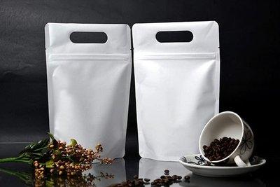 白牛皮紙手提夾鏈站立袋1磅/ 20*30+5cm/ 50入/ 275元【研磨咖啡袋.精品咖啡豆袋】 桃園市