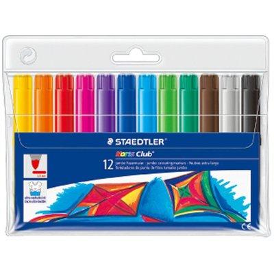 {阿治嬤} 德國 施德樓 STAEDTLER 快樂學園加寬型環保彩繪筆12色組 MS340WP12