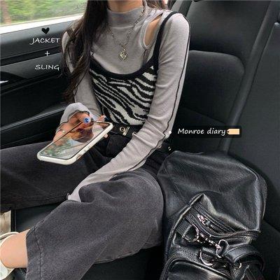 lulu醬服飾舘~輕熟風洋氣馬甲二件套2021年新款春裝女裝氣質顯瘦時尚小個子套裝