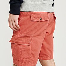 Maple麋鹿小舖 Abercrombie&Fitch * AF 紅色扭扣褲檔工作短褲 * ( 現貨32號 )