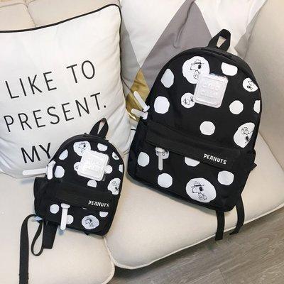 日本 Cilocala X Snoopy 史諾比 黑白波點 親子背囊 ($220 包順豐)