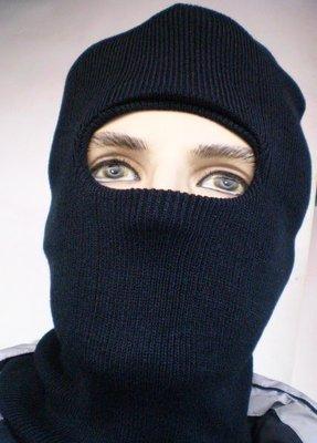 【pennon outdoor】套頭露臉針織雙層毛線帽