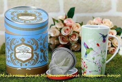 點點蘑菇屋{有蓋濾網杯組}Multiple CHOICE by TopChoice陶瓷馬克杯-香草茶/蜂鳥 花朵 精緻盒裝