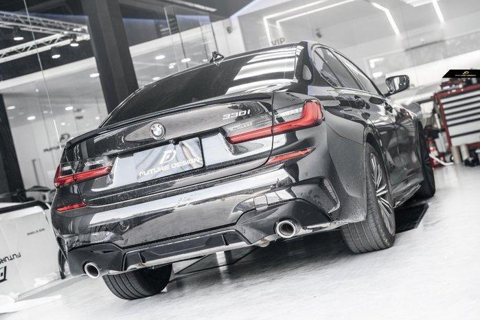 【政銓企業有限公司】BMW G20 G21 MPerformance 款 高品質 亮黑 兩件式 後下巴 免費安裝 現貨