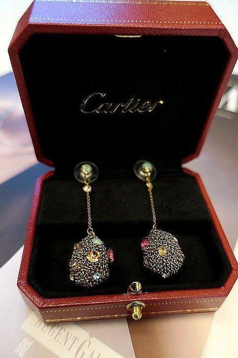 *Beauty*韓國精品水滴狀彩色水鑽耳環 CR  原價1千多元