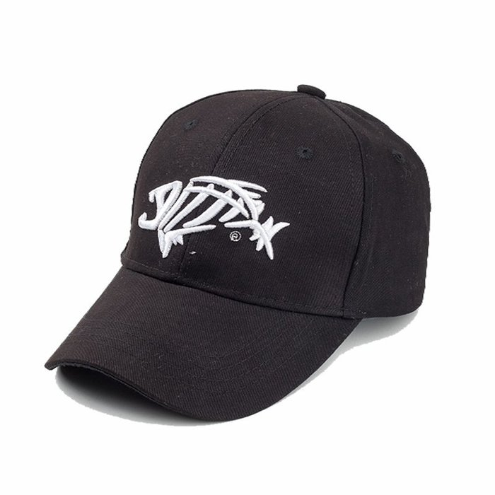 FIND 韓國品牌棒球帽 男女情侶 時尚街頭潮流 魚骨頭刺繡 帽子 太陽帽 鴨舌帽 棒球帽