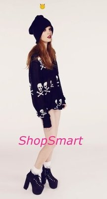 WILDFOX 台北ShopSmart直營店 Knight Hood School Girl V Neck Sweate
