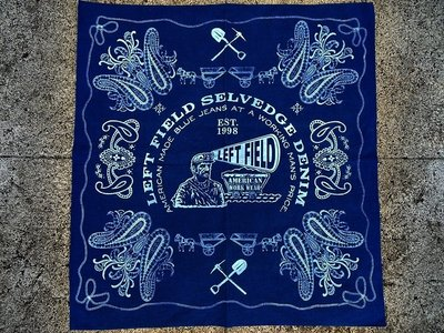 西方不敗美國製手工Left Field Natural Indigo Hand Dyed Bandana 手帕 圍巾