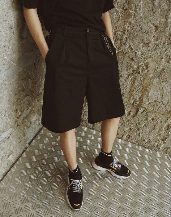 【NoComment】街頭休閒 質感簡約 五分休閒寬褲擴腿褲 兩色 UNIQLO