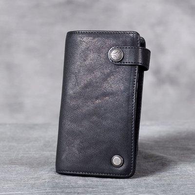 名片夾真皮信用卡夾-多卡位黑色植鞣牛皮男女皮夾73vp7[獨家進口][米蘭精品]