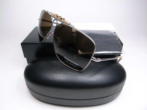 信義計劃 眼鏡 POLO RALPH LAUREN 3012 太陽眼鏡 蟒蛇皮金屬超大框 sunglasses