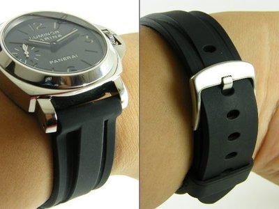 【錶帶家】嚴選不沾毛屑 26mm 收 24mm 代用 Panerai 錶帶 沛納海錶帶 高級PU膠帶 高雄市