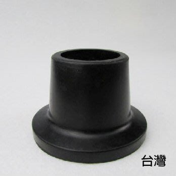 橡膠腳套 腳墊 - 孔徑2.7cm 高3.8cm 黑色 2個入 洗澡椅使用 老人用品 銀髮族 台灣製 [ZHTW1719-878A] 新北市
