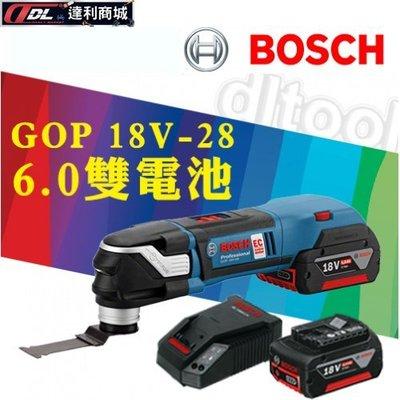 =達利商城= 德國 BOSCH 博世 18V 鋰電多功能魔切機 GOP 18 V-28 (6.0雙電池)