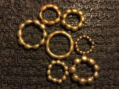 小西藏 藏區唸珠環 老天銅天鐵掛件 皮殼到代