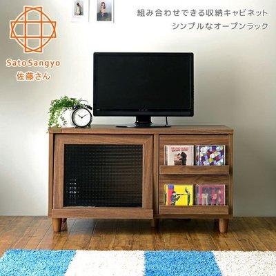 ~~Sato~NEFLAS時光旅人二抽一門電視收納櫃~幅90cm~外銷新品~免
