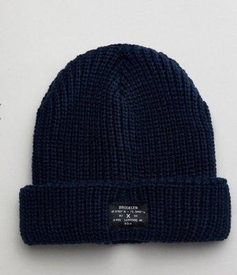 [美國品牌 New Look] chunky knit beanie 厚織保暖毛帽 navy 深藍