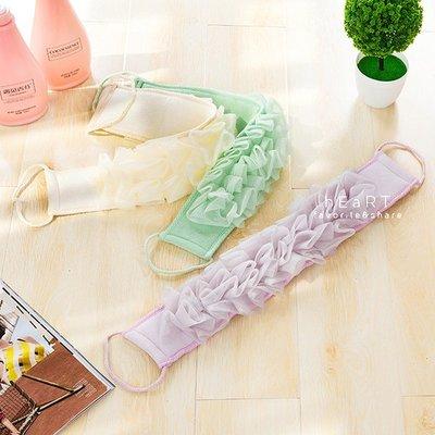 【可愛村】沐浴拉花長條型搓澡洗澡巾 沐浴巾 搓澡巾
