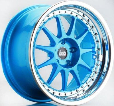 全新鋁圈 BOLA B4 17吋鋁圈 糖果藍 4/100 4/114.3 5/100 5/114.3