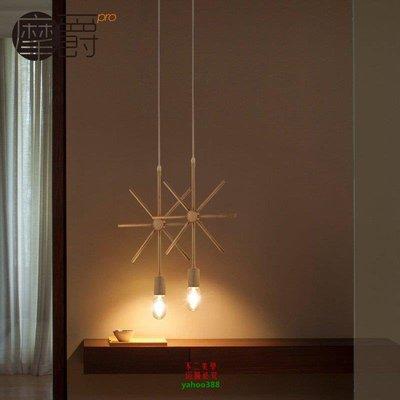 【美學】幾何北歐吊燈設計師藝術燈具餐廳酒吧簡約中式鐵藝吊燈MX_812