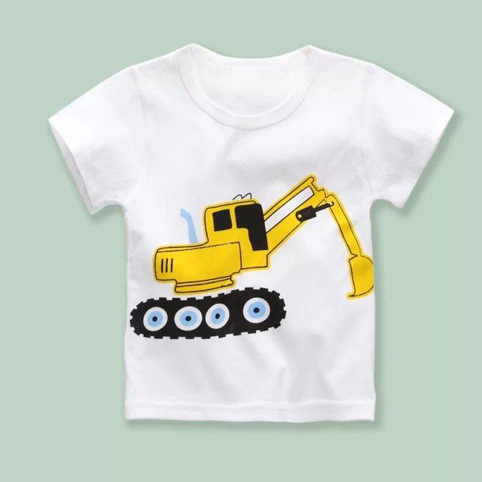 ✿荳荳小舖✿ 現貨⚽ 純棉 挖土機 怪手 短袖T恤