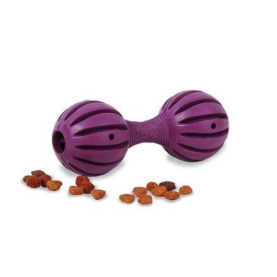 美國PetSafe 狗仔啞鈴S 寵物智遊玩具 可裝填飼料零食 天然橡膠狗玩具 Waggle 18805395