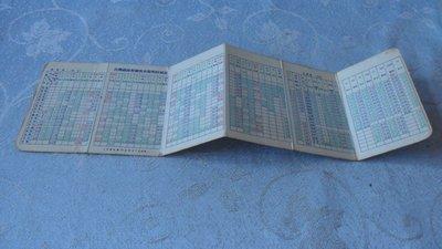 藍色小館3-13--------70年.台灣鐵路對號快車簡明時刻表