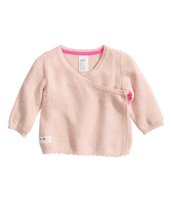 *小豆仔的屋Dou Dou House*歐洲瑞典H&M童裝/女孩粉色針織衫毛衣上衣(現貨+預購)