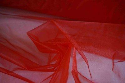 ~ 地帶~紅色亮面雪紗網10尺100元~.做禮服.婚禮佈置.頭紗.窗紗 150~300公分 ~