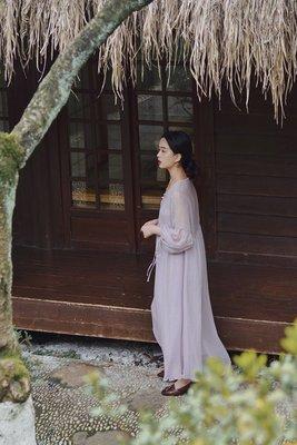 旗袍WANTING晚《流光版爐香》夏薄款改良旗袍寬松仙女風連衣裙含吊帶