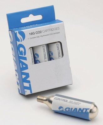 公司貨 全新盒裝 GIANT 捷安特 螺紋 有牙式 16g CO2打氣筒氣瓶,補充瓶 3個優惠140元