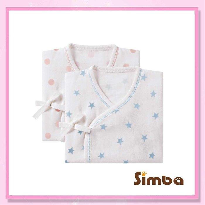 <益嬰房>小獅王辛巴 極柔感印花紗布反袖肚衣(60cm)(藍/粉) 嬰兒紗布衣