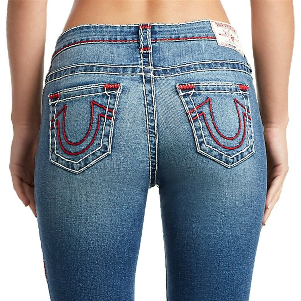 @言言限定 勿標@TRUE RELIGION SUPER T 彌勒佛牛仔褲 Super T Skinny Stretch