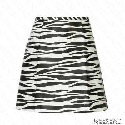 【WEEKEND】 WE11DONE 斑馬紋 短裙 迷你裙 黑白