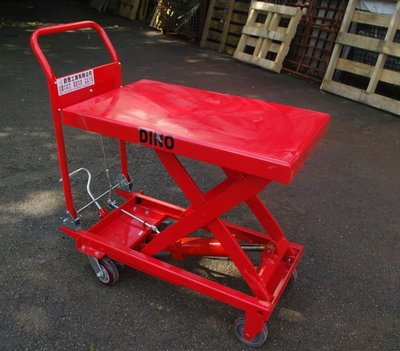 DINO 500KG腳踏式油壓昇降台車/升降台車/油壓拖板車/絞盤/ 油壓