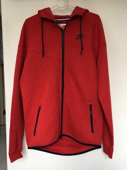 全新 Nike Tech Fleece AW77 FZ 紅色 科技棉 連帽外套 潮流 百搭 全台熱銷款 545279-672 現貨 最後一件