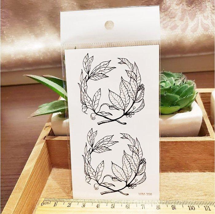 【萌古屋】M系列腳踝枝葉 - 男女防水紋身貼紙刺青貼紙WM-356