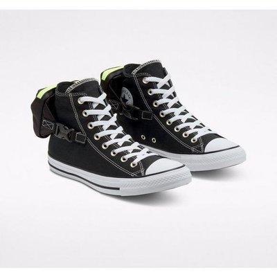 2020 7月 Converse Buckle Up Chuck Taylor All-Star 女 黑色 小收納包 休閒慢跑鞋