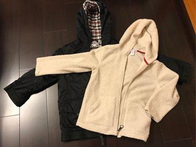 【二手衣】Janie and Jack 男中童黑色兩件式保暖鋪棉連帽外套(7)