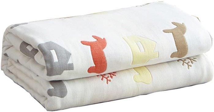 【樂活先知】『代購』 日本  Hanacat   六重紗布毯  小包巾  小馬款  150*200CM