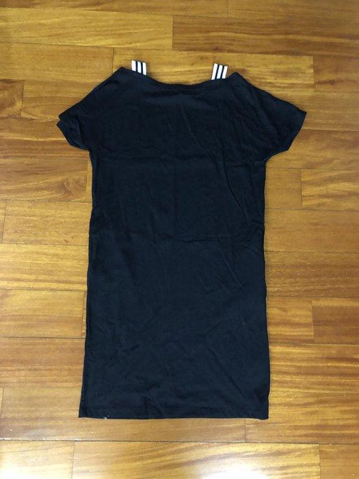 (嘻哈姐弟) Bossini 女生二手平肩休閒連身裙 現貨S號 9成新 寬鬆版