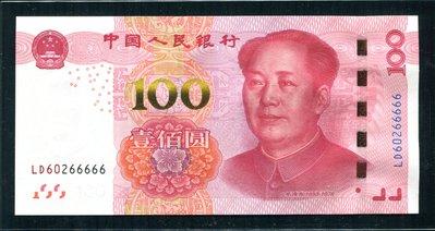 人民幣土豪金壹佰圓 LD60266666老虎號 全新